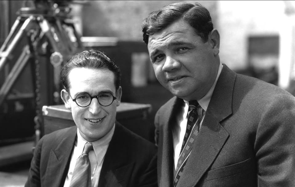 Babe Ruth with Harold Lloyd.