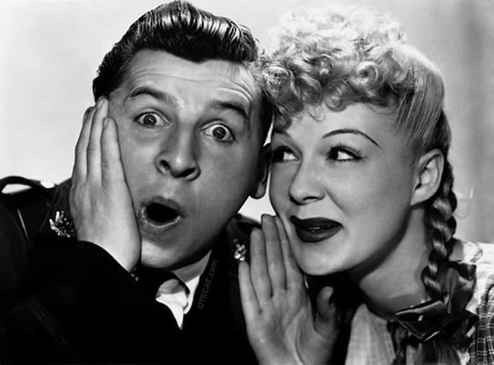 Eddie Bracken with Betty Hutton