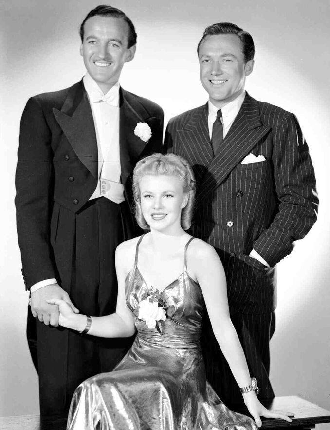 David Niven with Ginger Rogers and Frank Albertson