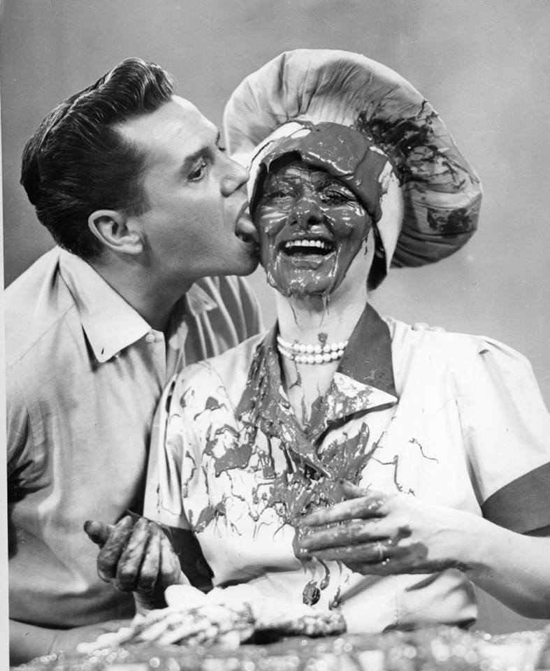 Desi Arnaz and wife Lucille Ball