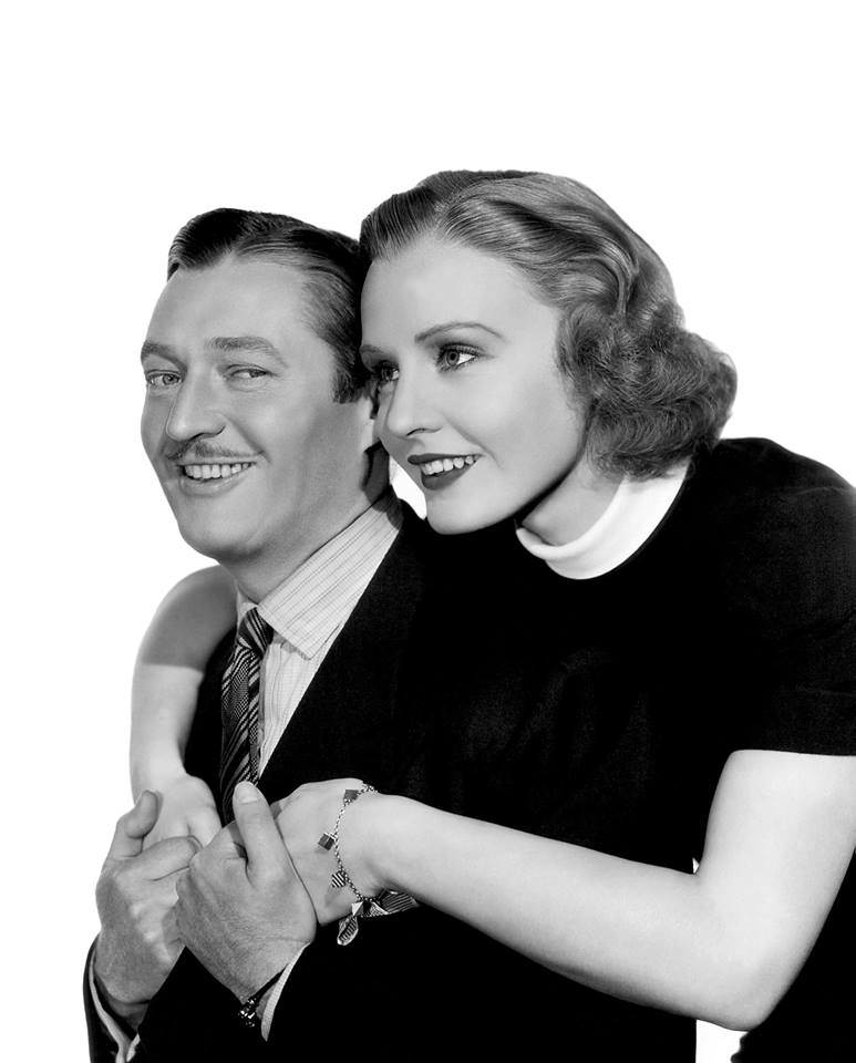 Edmund Lowe with Madge Evans.