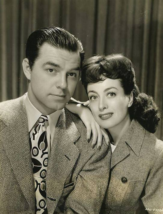 Phillip Terry with Joan Crawford.
