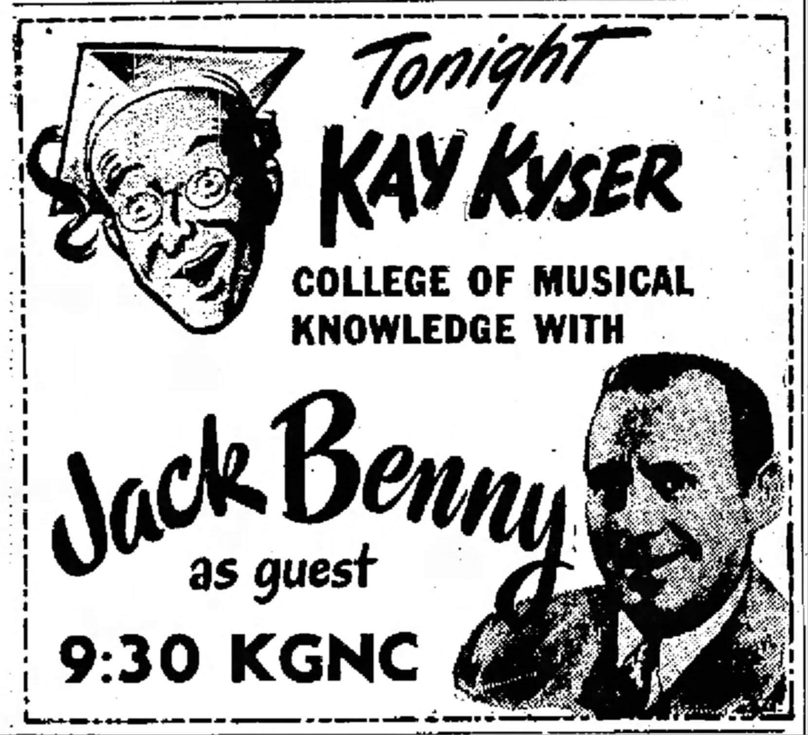 Kay Kyser & Jack Benny