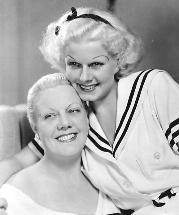 Jean Harlow with her Mother in 1934