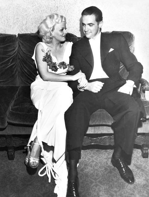 Jean Harlow and Howard Hughes.