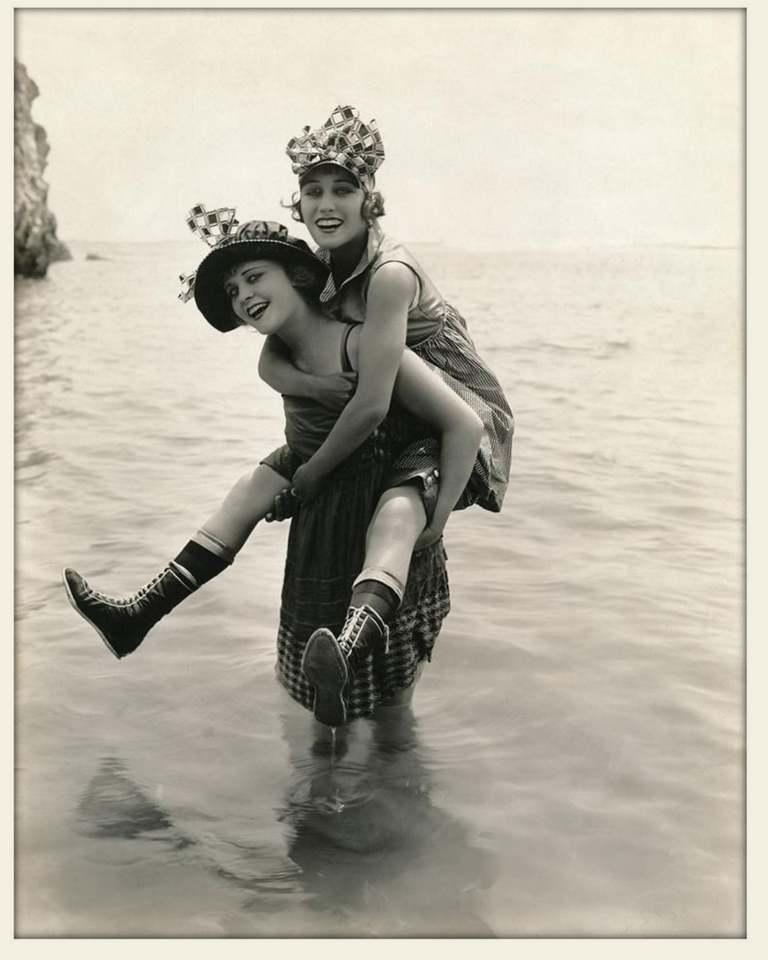 Phyllis Haver and Gloria Swanson
