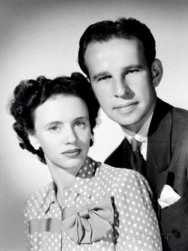 Jessica Tandy with her husband Hume Cronyn