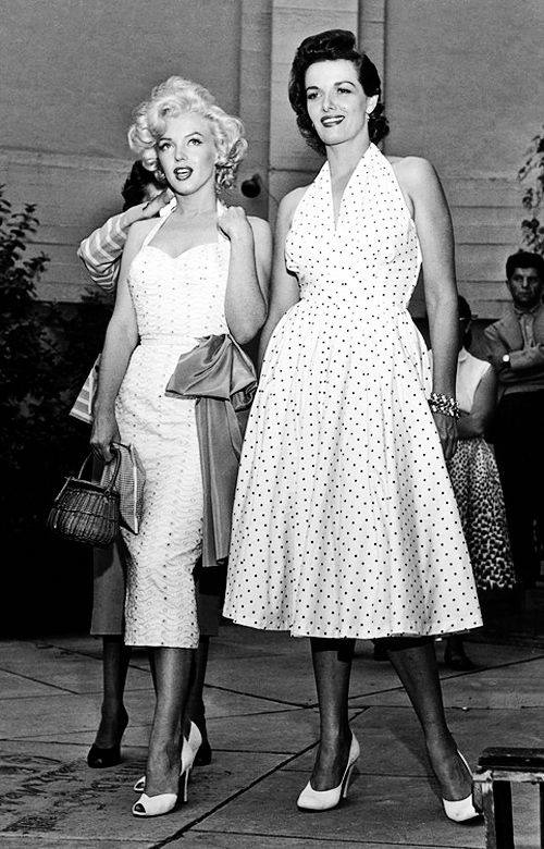Marilyn Monroe and Jane Russell (1953)