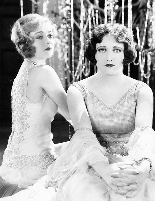 Constance Bennett and Joan Crawford