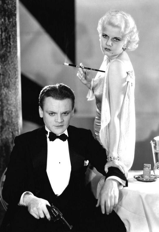 Jean Harlow & James Cagney.