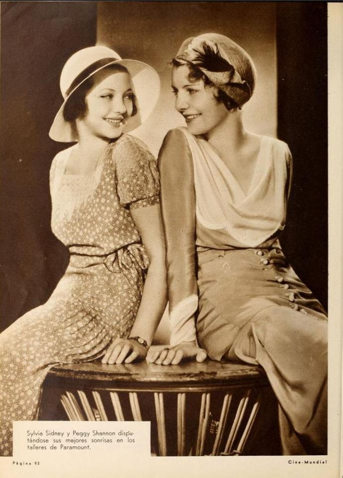 Sylvia Sidney and Peggy Shannon