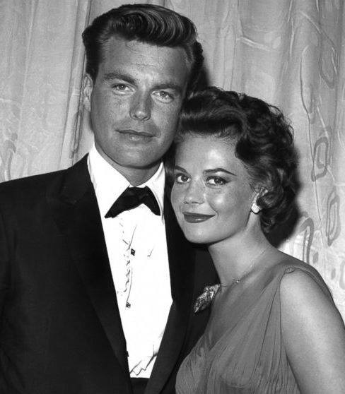 Natalie Wood with her husband Robert Wagner