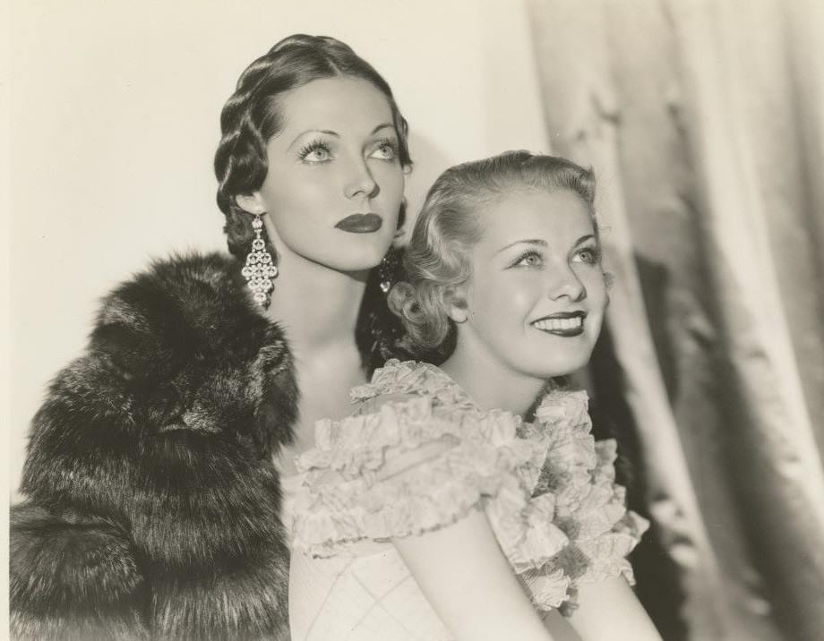 Adrienne Ames and Joan Marsh