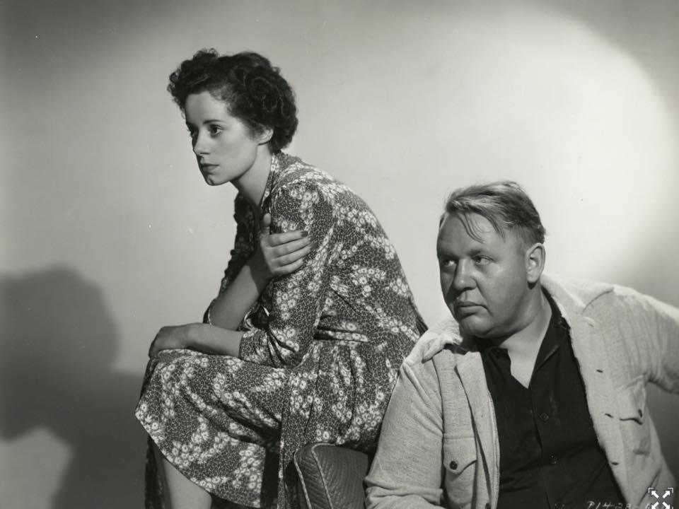 Elsa and Charles Laughton.