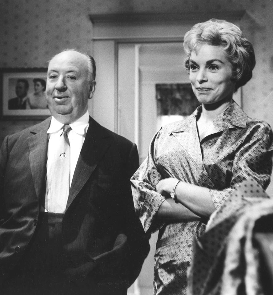 Alfred Hitchcock with Janet Leigh