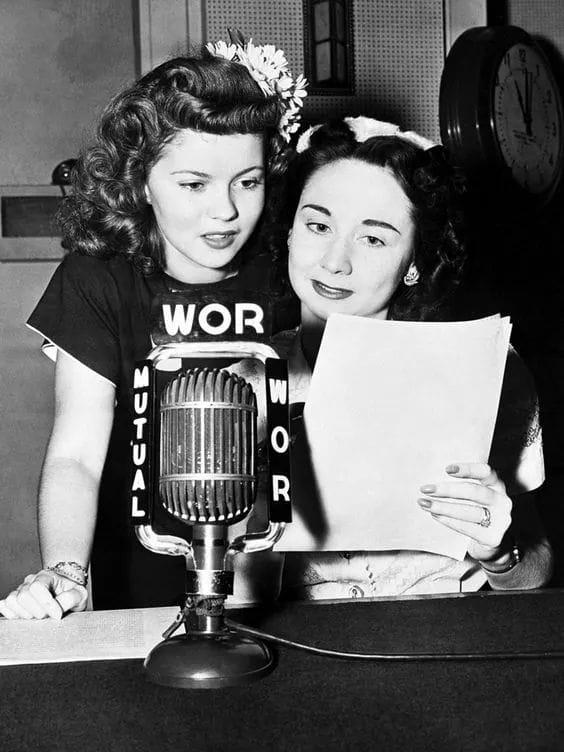 Shirley Temple and Dorothy Kilgallen
