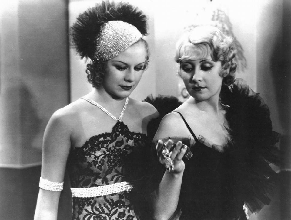 Joan Blondell and Ginger Rogers