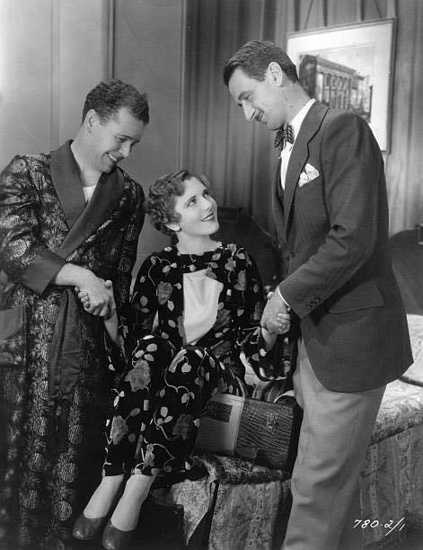 Regis Toomey, Jean Arthur and John Cromwell