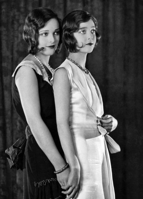 Loretta Young & sister Sally Blane, 1928