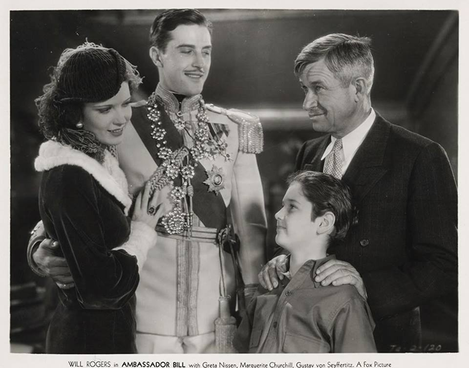 Marguerite Churchill, Ray Milland, Will Rogers & Tad Alexander