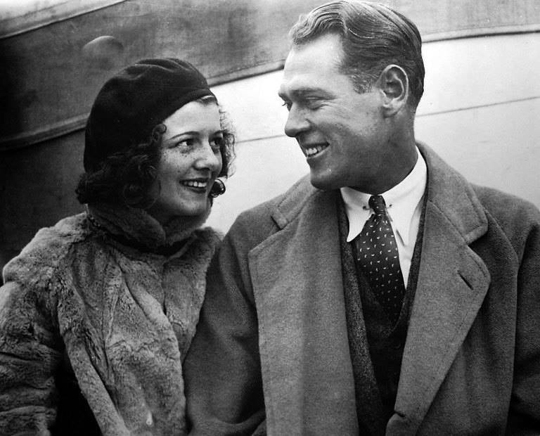 Janet Gaynor and her husband, attorney Jesse Lydell Peck