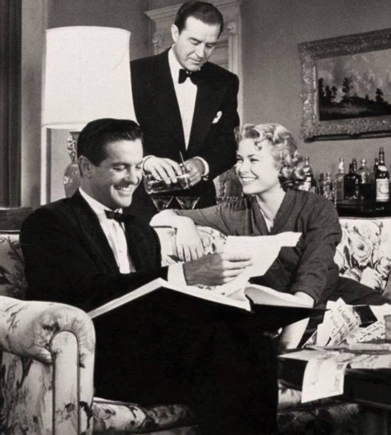 Grace Kelly with Ray Milland and Robert Cummings