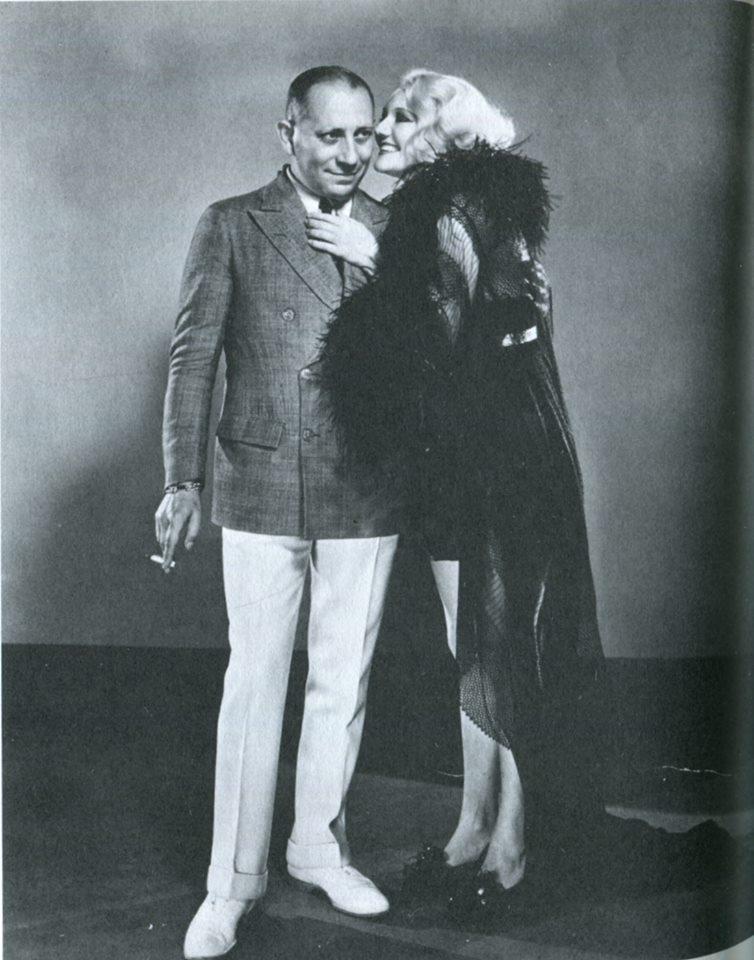Erich von Stroheim and Minna Gombell