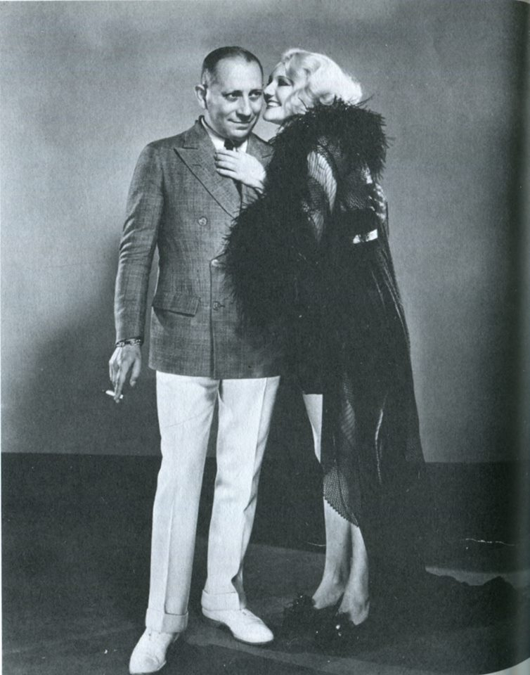 Erich von Stroheim and Minna Gombell