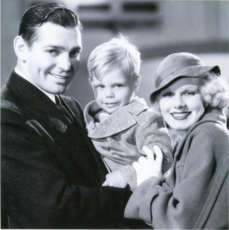 Clark Gable, Bobby Caldwell and Jean Harlow