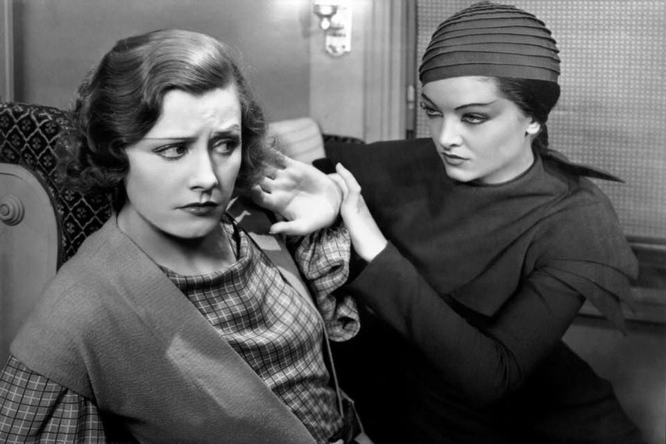 Irene Dunne and Myrna Loy