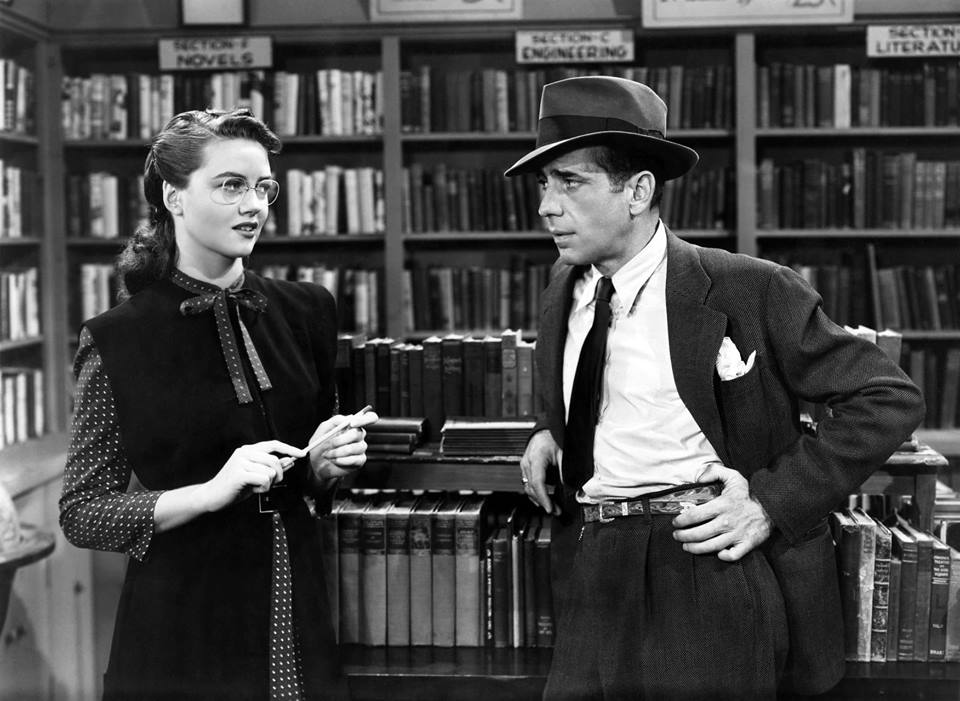 Humphrey Bogart and the lovely Dorothy Malone