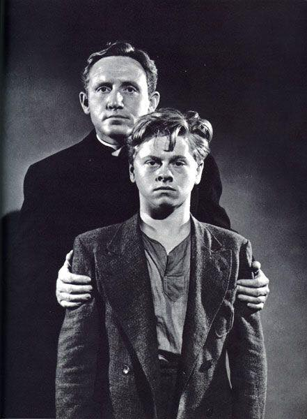 Spencer Tracy and Mickey Rooney