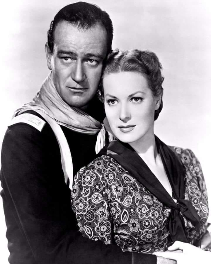 John Wayne and maureen o hara.