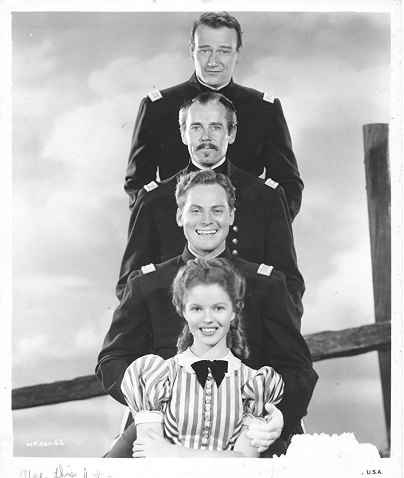 Henry Fonda, John Wayne, John Agar and Shirley Temple Fort Apache (1948)