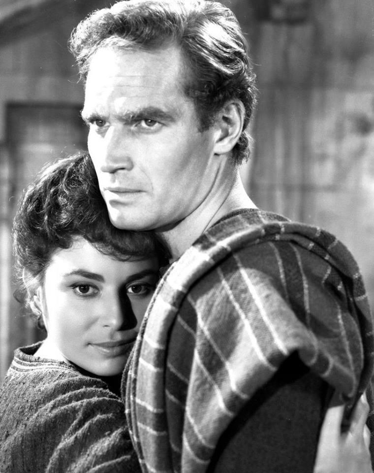 Charlton Heston with Haya Harareet