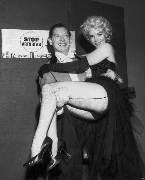 Milton Berle and Marilyn Monroe