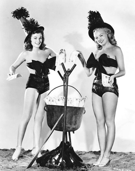 Barbara Hale & Myrna Dell