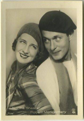 Norma Shearer and Robert Montgomery