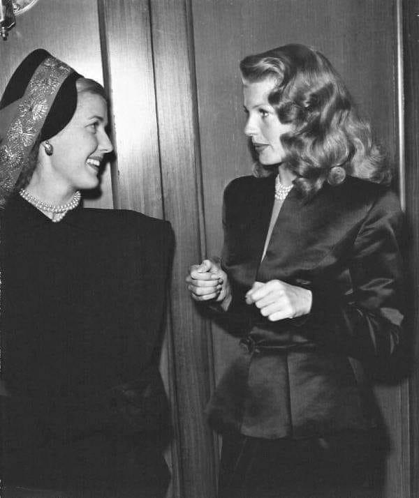 Anita Louise and Rita Hayworth