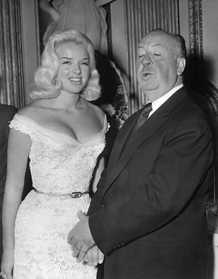 Diana Dors and the legendary Alfred Hitchcock