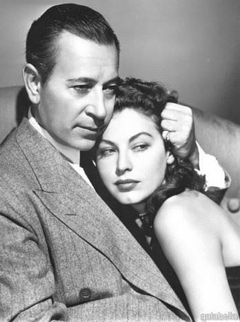 George Raft & Ava Gardner