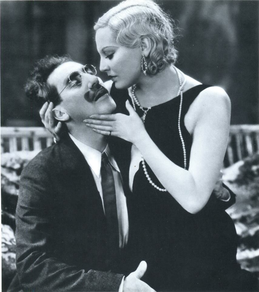 Groucho Marx and Thelma Todd.