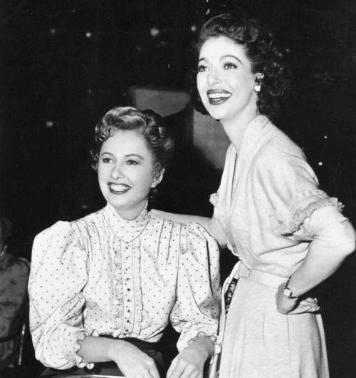 Barbara Stanwyck & Loretta Young 1950s