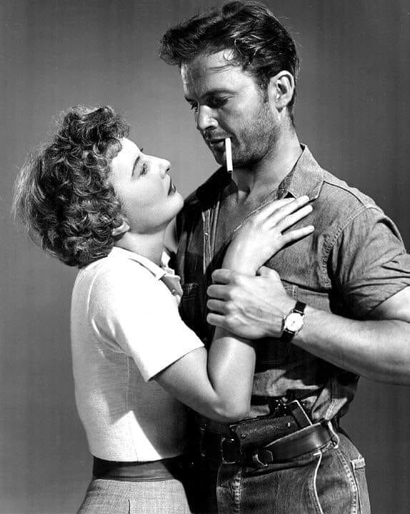 Barbara Stanwyck and Ralph Meeker