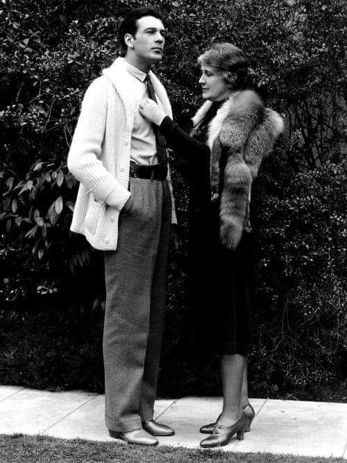 Gary Cooper and his Mother
