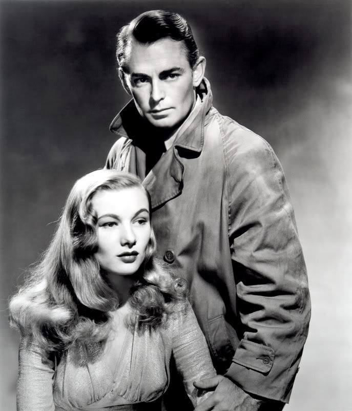 Veronica Lake and Alan Ladd...