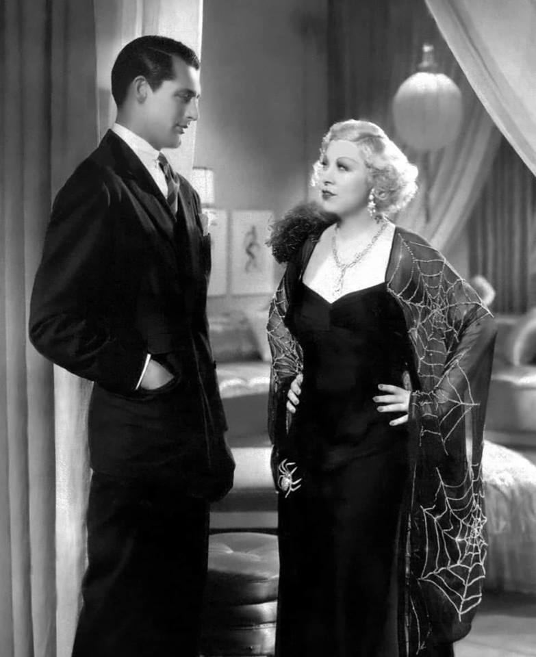 Mae West with Cary Grant