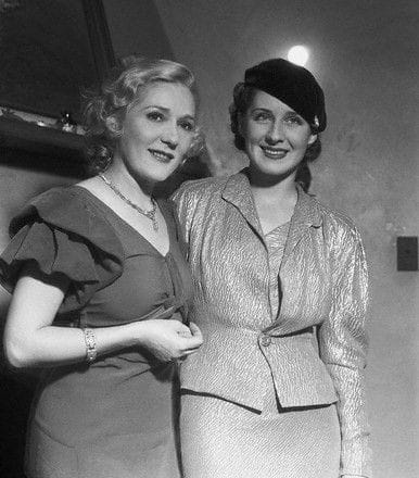 Mary Pickford with Norma Shearer