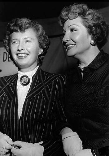 Barbara Stanwyck and Claudette Colber