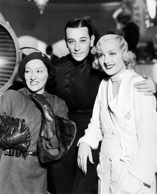 Gloria Swanson, George Raft and Carole Lombard